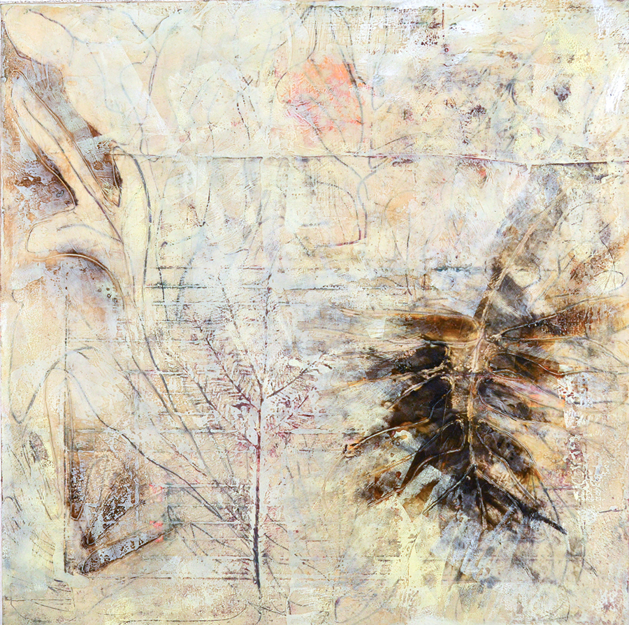 "The Singing Tree 13, monotype & mixed media, 24"" x 24"", $2200"