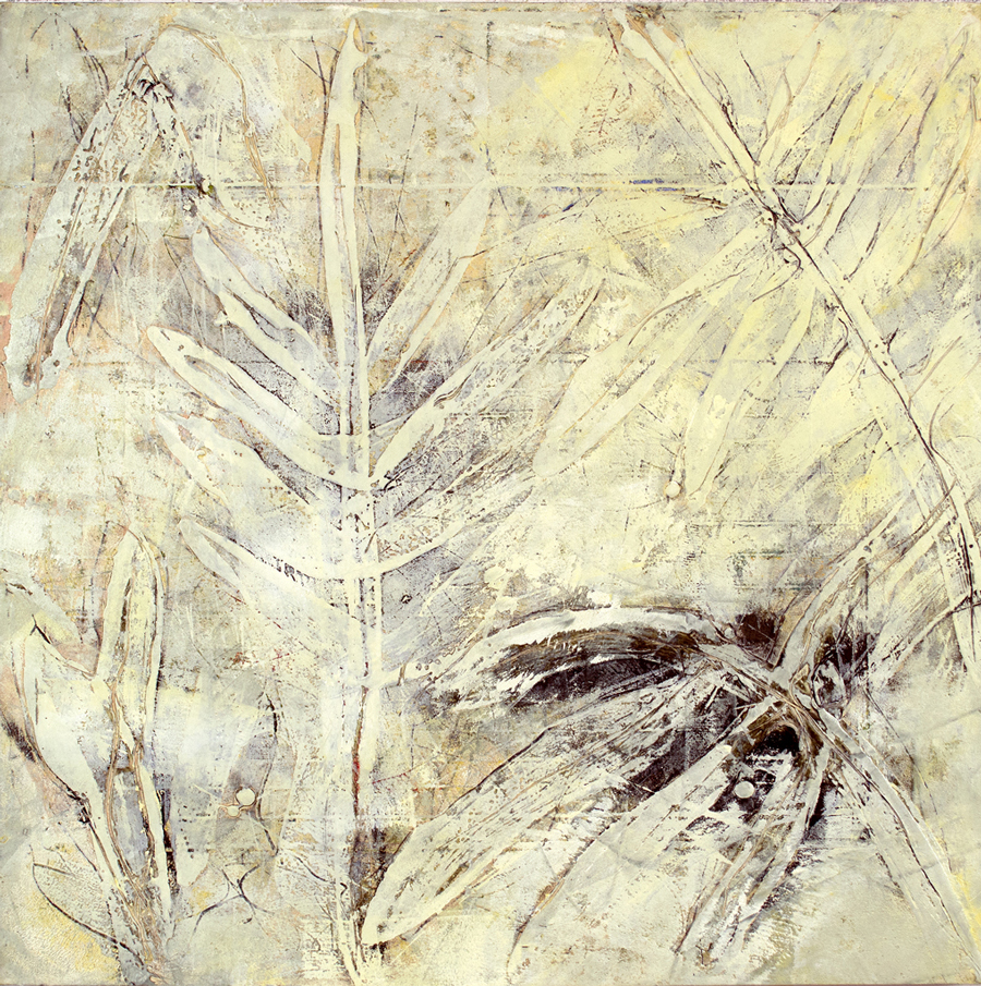 "The Singing Tree 17, monotype & mixed media, 24"" x 24"", $2200"