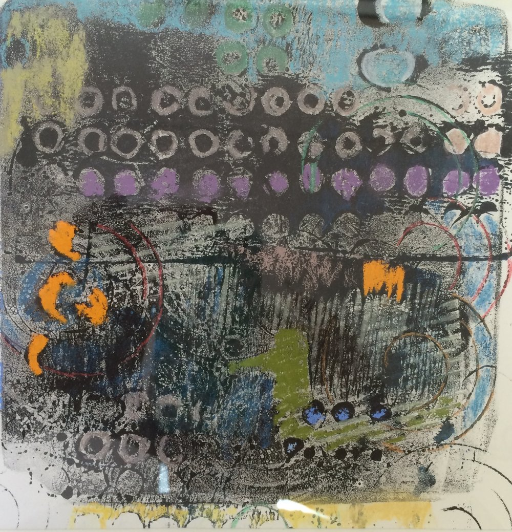 """<p><strong>CAROLE PARRISH</strong>printmaking, collage, pastel<a href=""""/carole-parrish"""">More →</a></p>"""