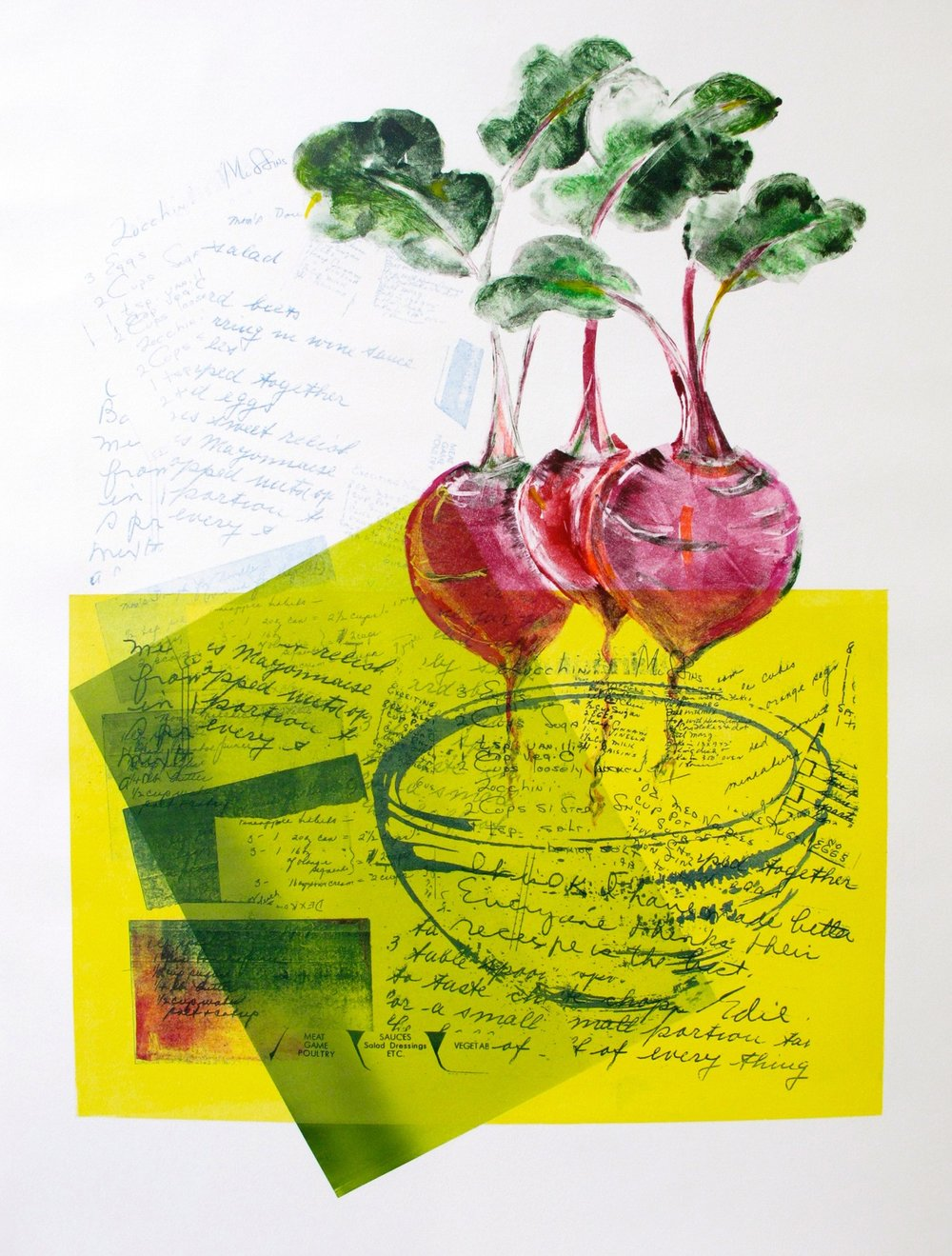 """I Love Beets"", Pronto plate litho, 30"" x 22"", $850"