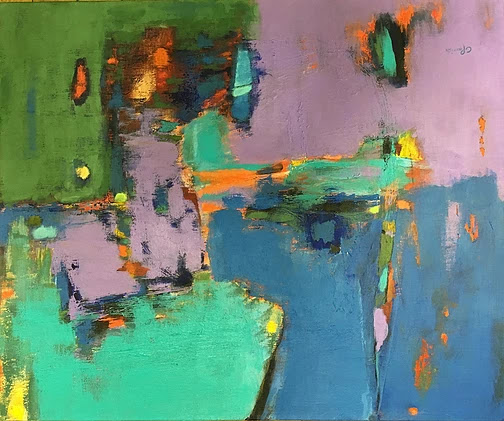 """""""Imagine"""", oil, 16"""" x 20"""", $800 (framed)"""