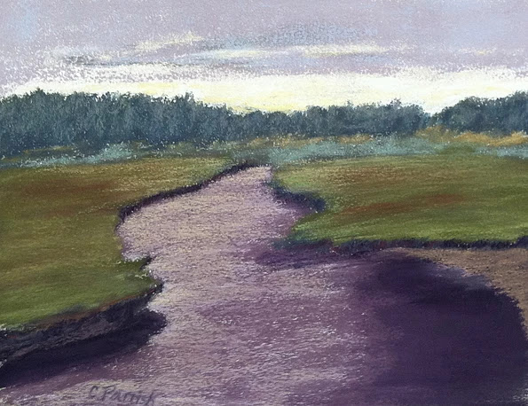 """Scorton Creek"", pastel, 14"" x 18"", $495 (framed)"