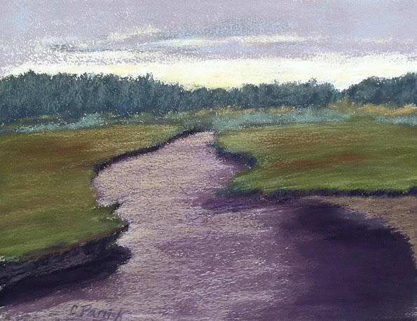"""Scorton Creek"", pastel, 14"" x 18"", $495 (framed)"