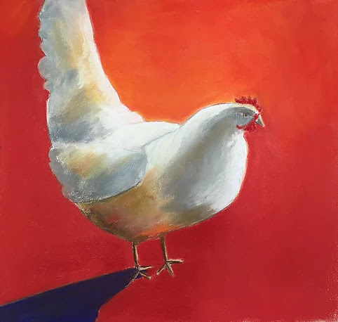 """Honoring The Humble Chicken"", pastel, 20"" x 24"", $600"