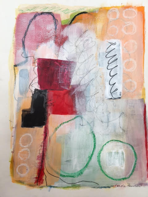 "untitled, mixed media, 12"" x 14"", $295 (framed)"