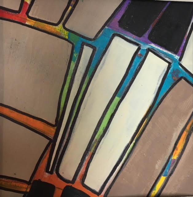 "untitled, mixed media, 8"" x 8"", $125 (framed)"