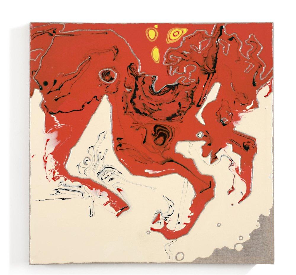 """Catcher In The Rye"", acrylic medium on linen, 23 x 23 x 3"", $1,500"