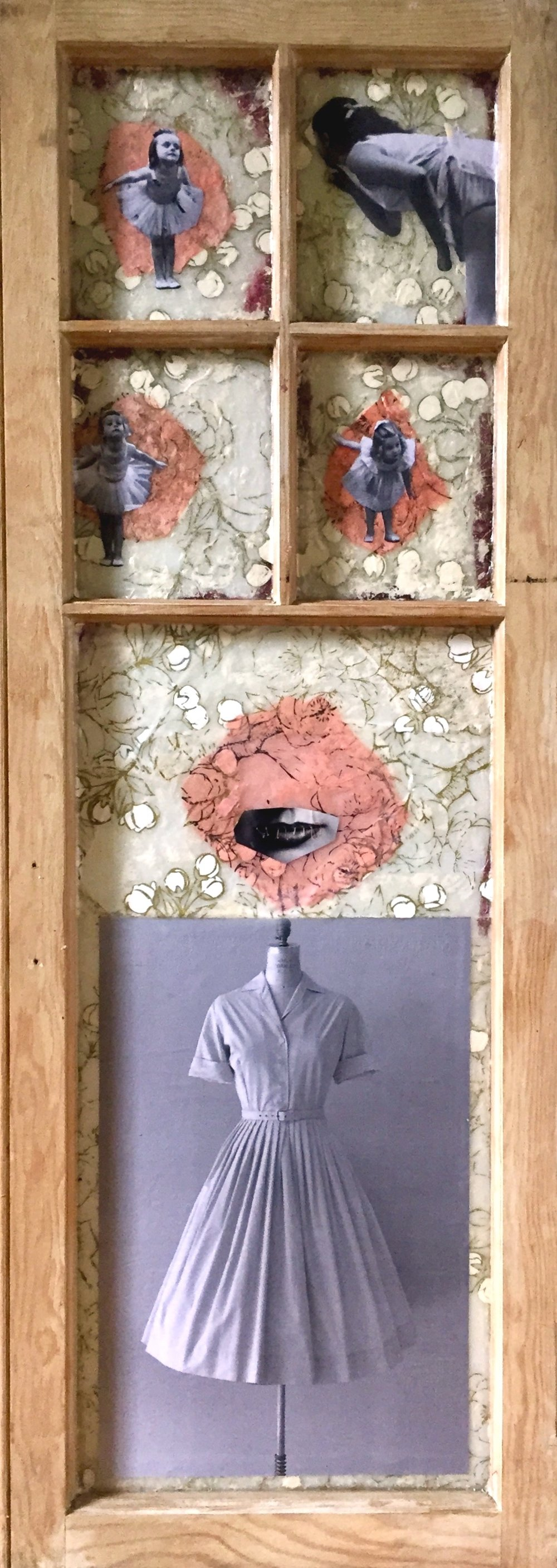 """Shhhh"", collage, 41 x 14"", $800"