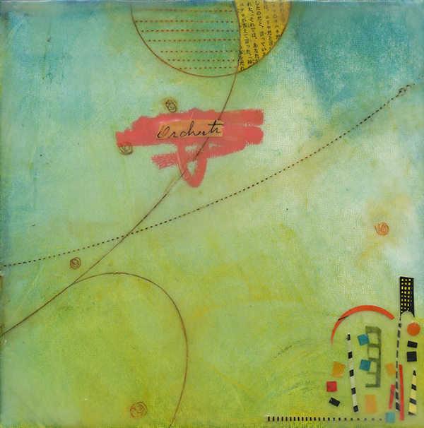 """Incidental Journey III"", mixed media, 9 x 9"", $225"