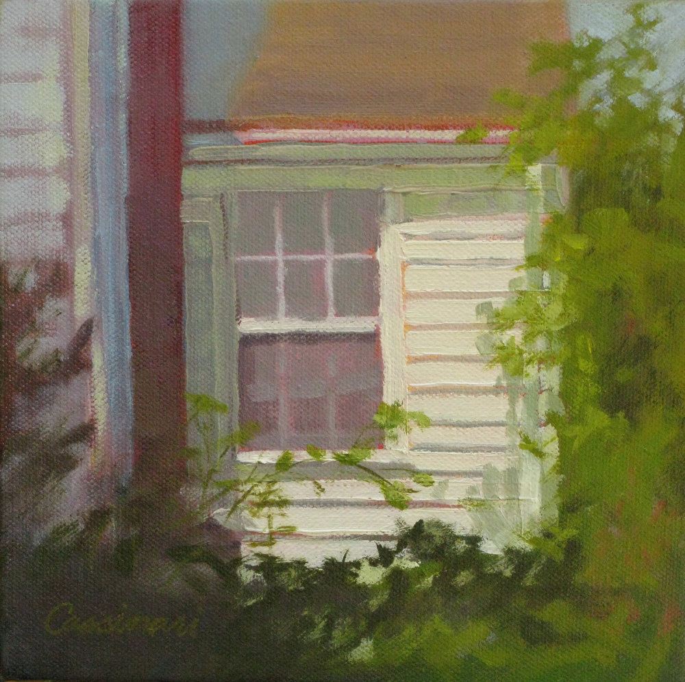 """Sunlit Window"", oil, 8"" x 8"", $300"