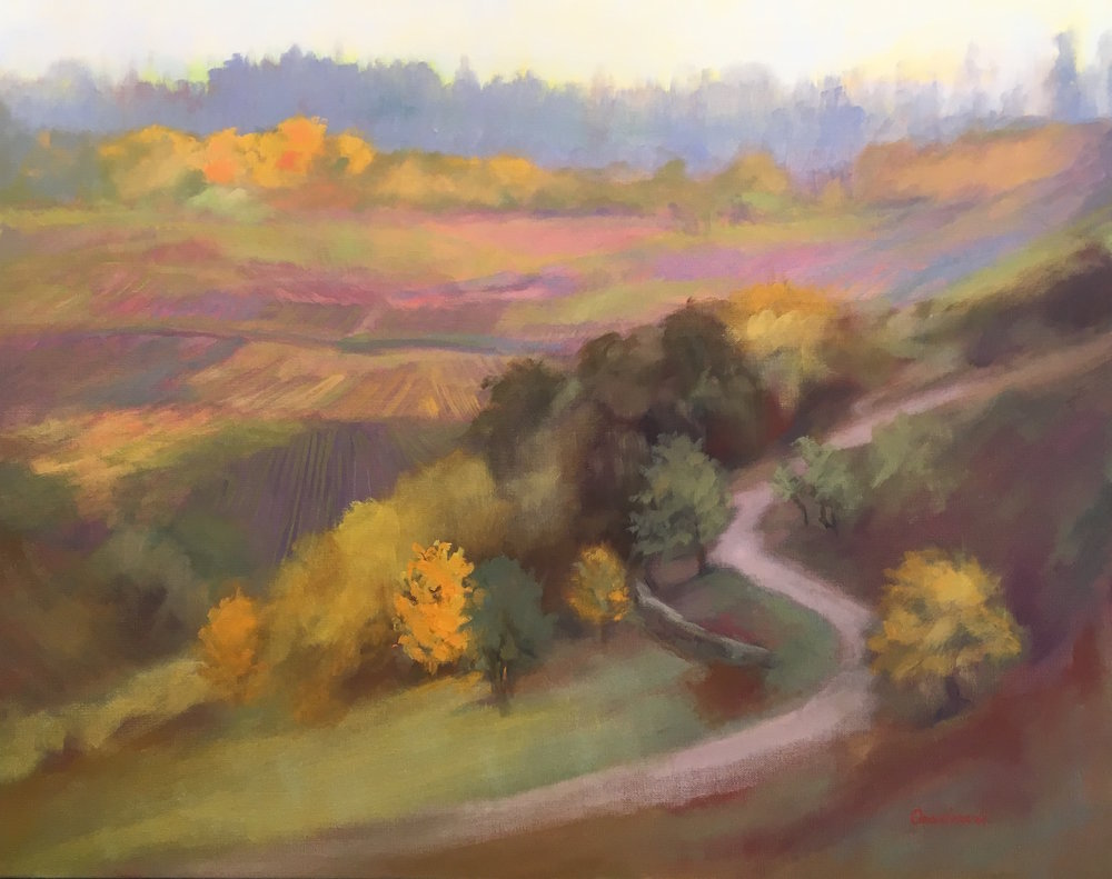 """Golden Vineyard"", oil, 24"" x 30"", $1,200"