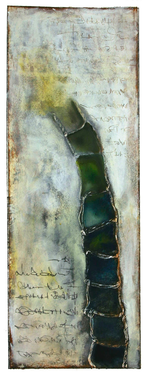 """Beyond The Reach"", mixed media, 22"" x 8"", $350"