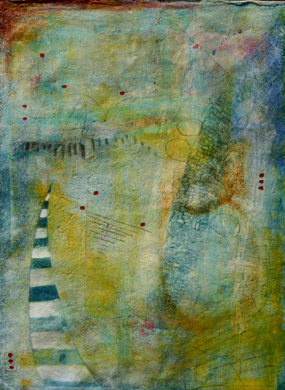 """El Roble Del Peregrino"", mixed media, 25"" x 18"", $475"