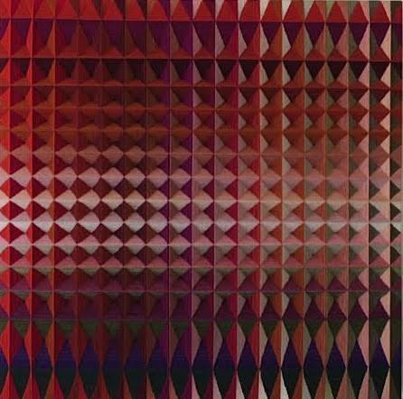 """Red Ruby"", fiber, 36"" x 36"", $2,500"
