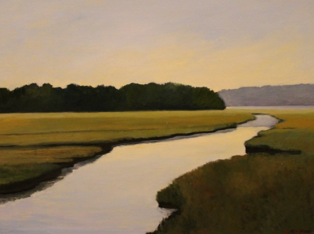 """Marshlands Newburyport"", oil, 18"" x 24"", $1,000 SOLD"