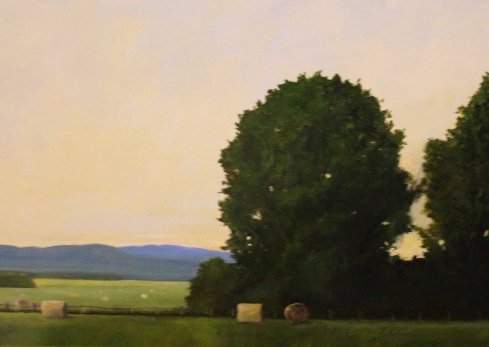 """Hay Bales, Vermont"""", 18"""" x 24"""", $1,000"""
