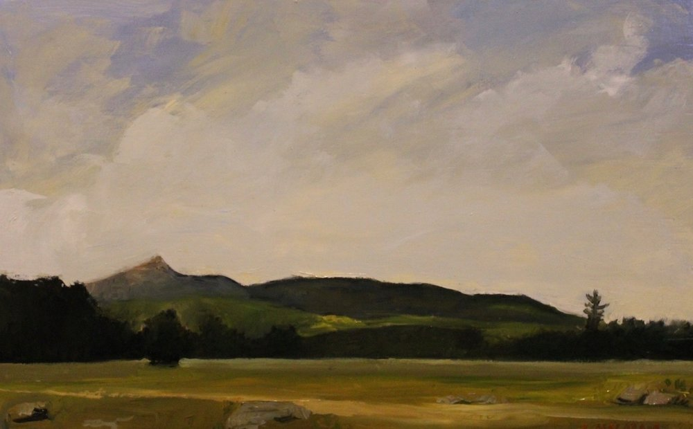 """Mount Chocorua, White Mountains, oil, 10"" x 16"", $400"""