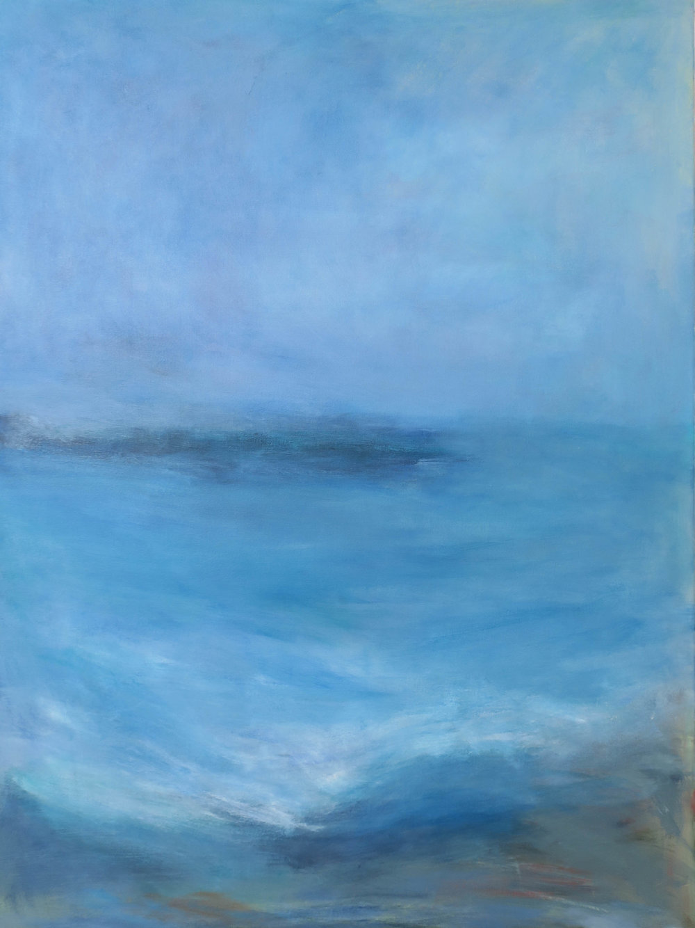 """Down By The Sea"", acrylic, 30"" x 40"", $1,500"