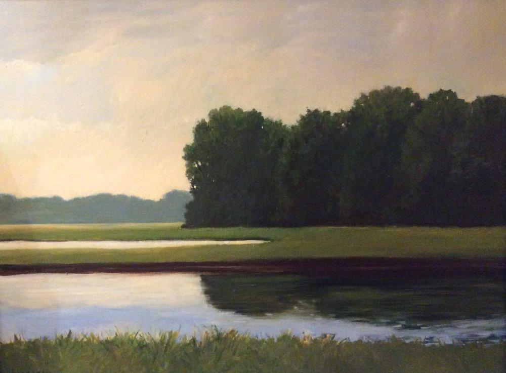 """Summer Marsh"", oil, 22"" x 28"", (framed) $1,000"