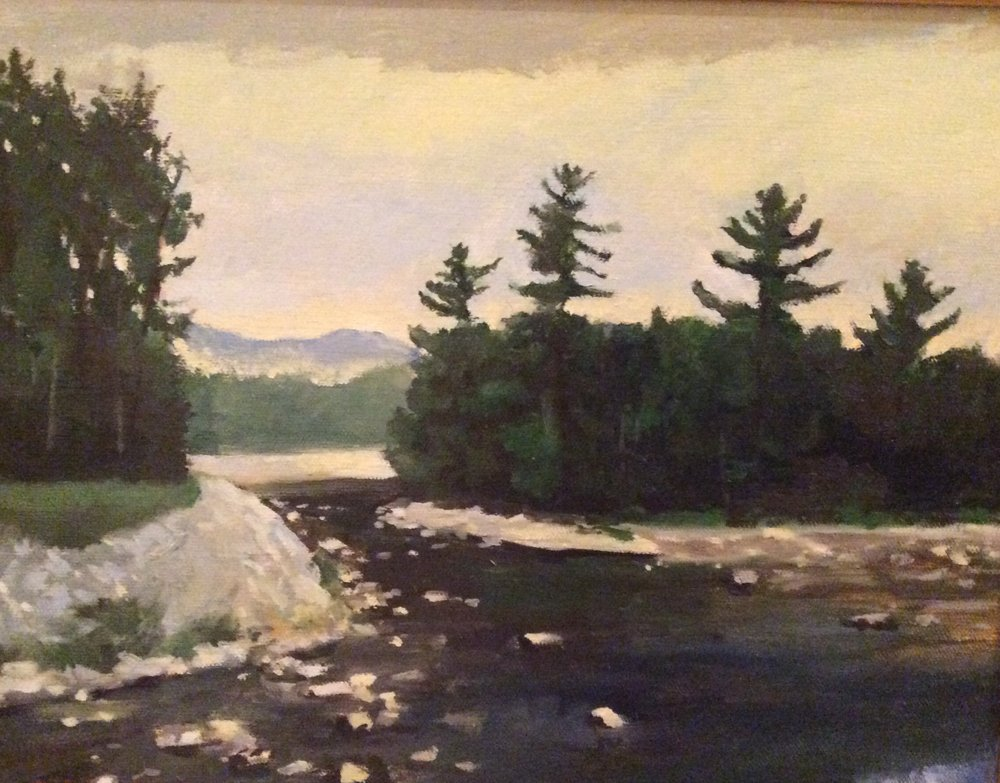 """Near The Wilderness"", oil, 13"" x 16"" (framed), $300 SOLD"