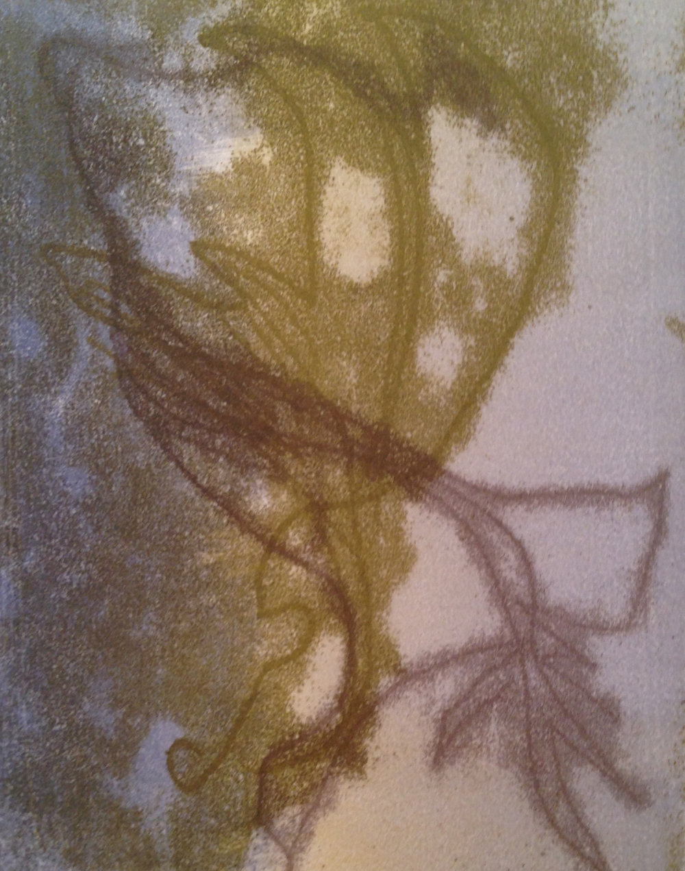 """""""Sea Fan"""", monotype, 9.5"""" x 12"""", $125 (framed)"""