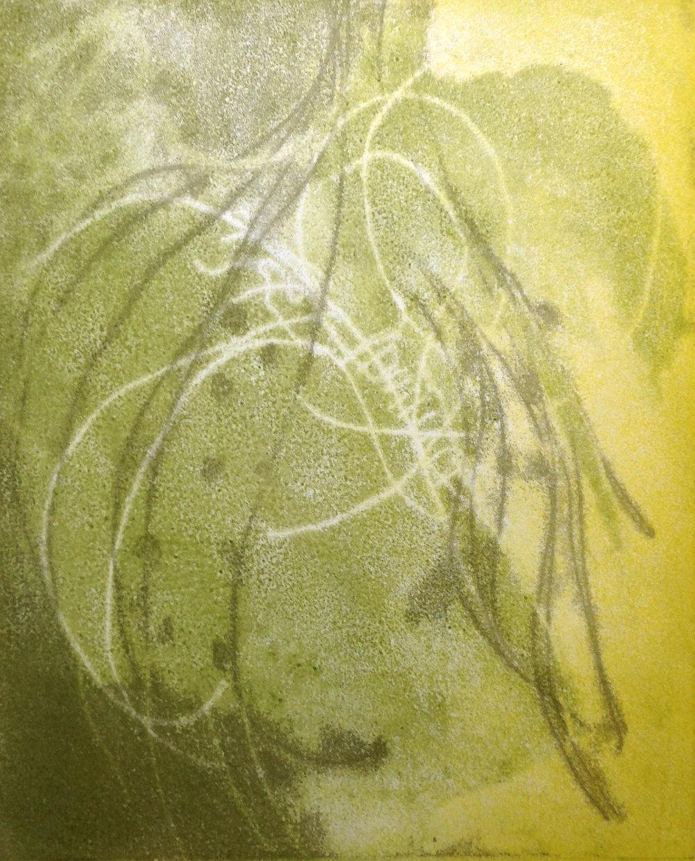 """""""Vine"""", monotype, 9.5"""" x 12"""", $125 (framed)"""