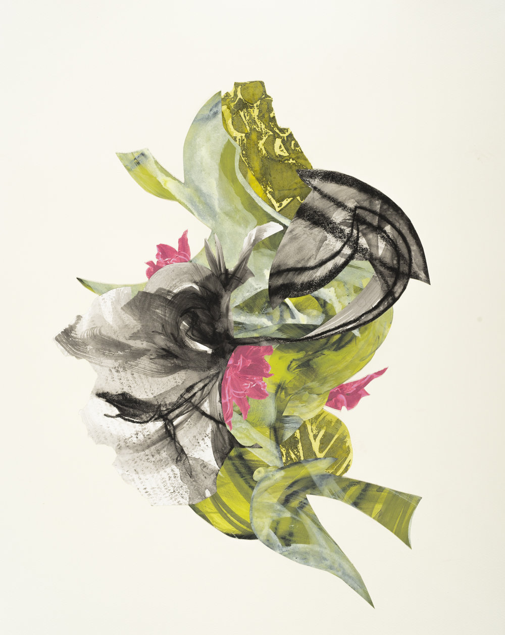 """Dancer"", mixed media collage, 22"" x 28"", $850 (framed)"