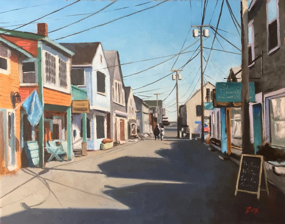 """Bearskin Neck"", oil on canvas, 16"" x 20"", $850 (framed)"