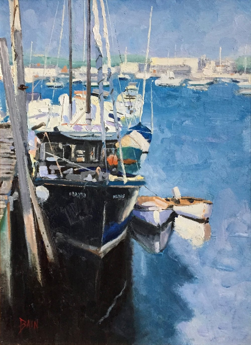 """Boats Of Summer"", oil on canvas, 12"" x 16"", $725 (framed)"