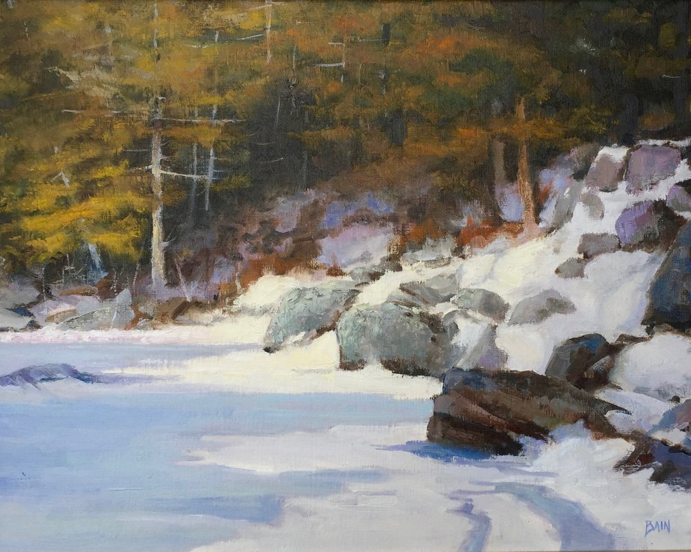"""Edge Of Winter"", oil on canvas, 18"" x 24"", $1,200 (framed)"
