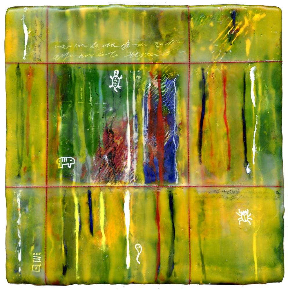 """Window"", encaustic, 8"" x 8"", $175"