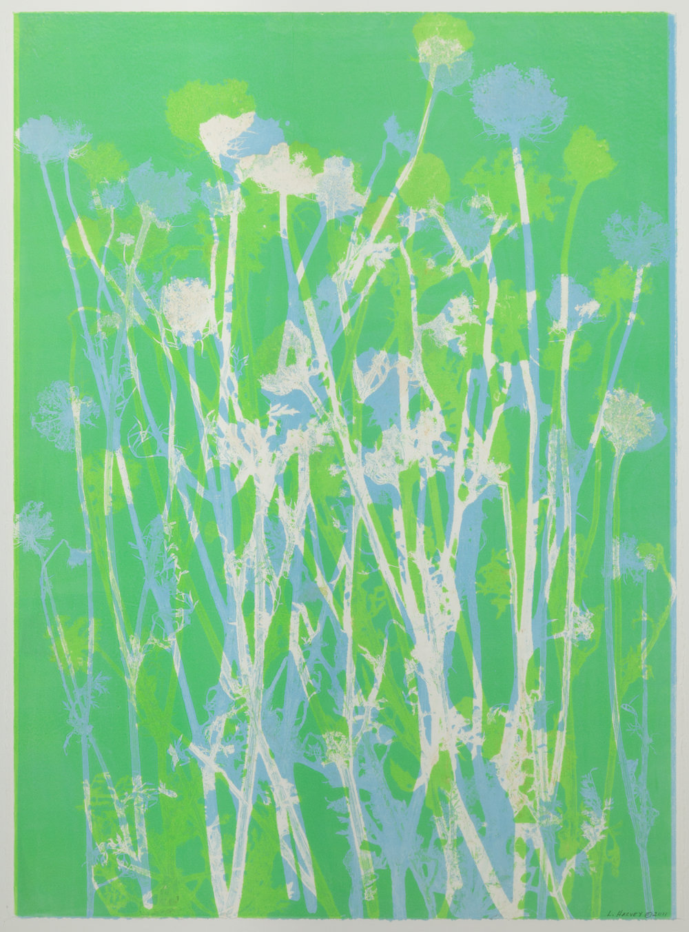 """Meadow Flowers"", monoprint, 33.25"" x 25.75"", $600 (framed)"