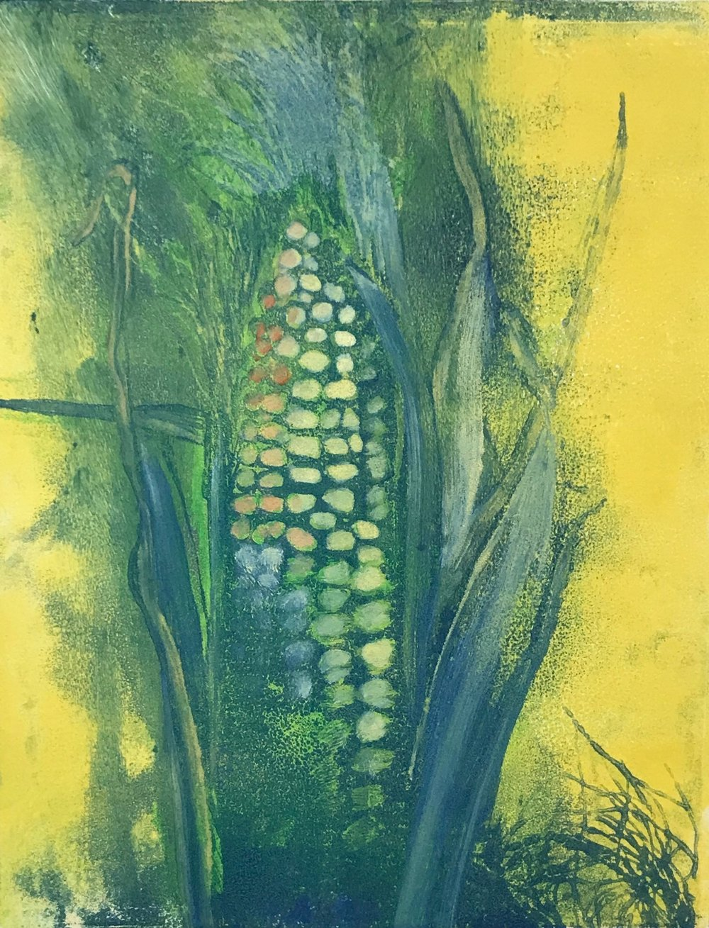 """Colorful Corn"", monoprint, 10"" x 8"", $150 (unframed)"
