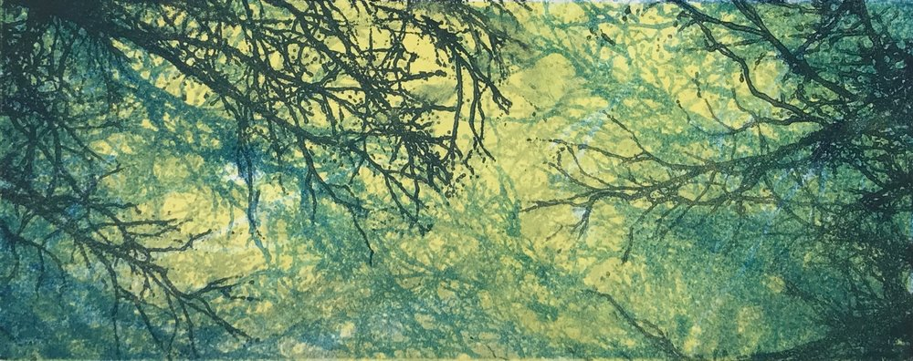 """Summer Sky IV"", monoprint, 6"" x 14.5"", $150 (unframed)"