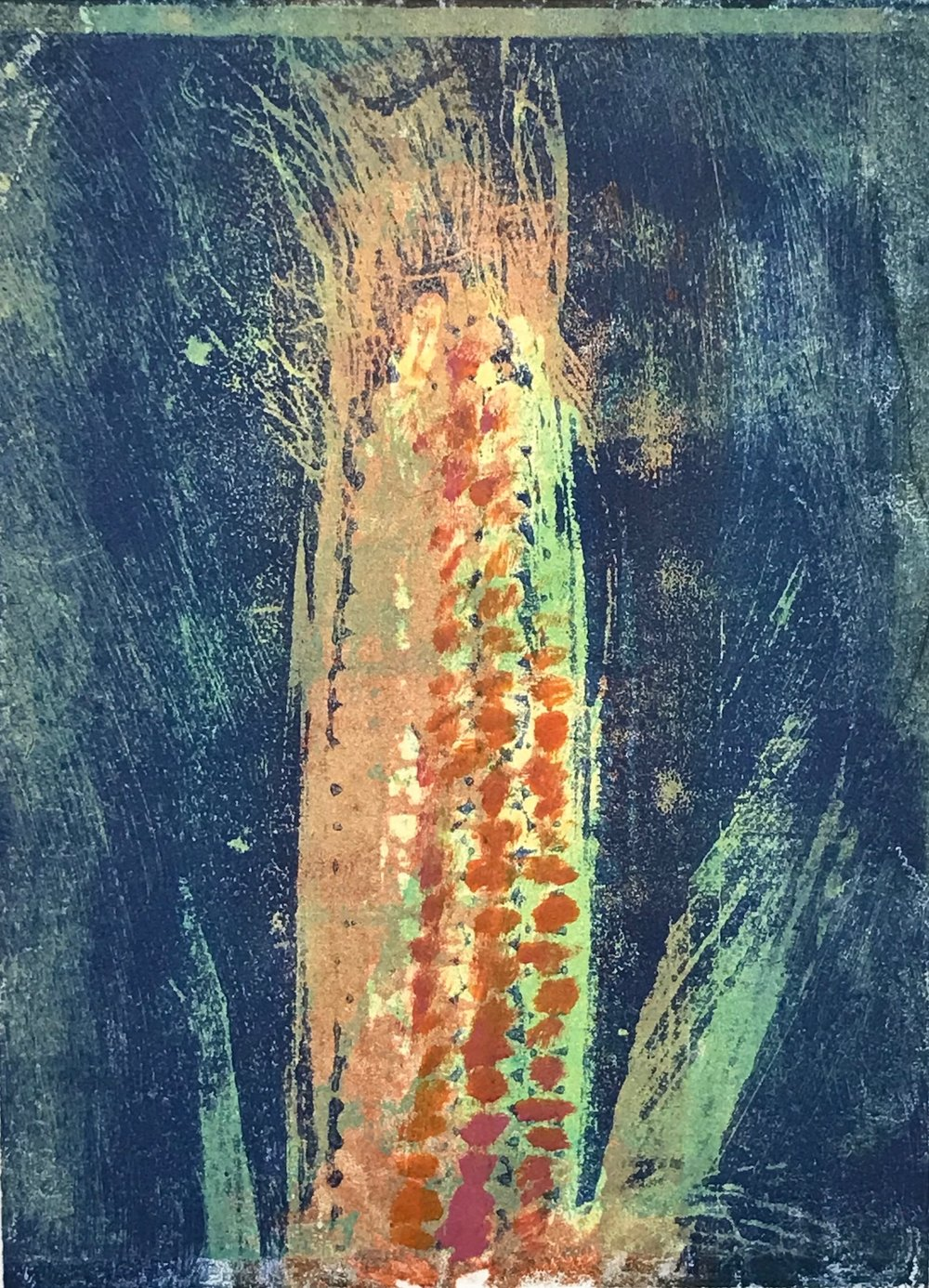 """Corn"", monoprint, 10"" x 8"", $150 (unframed)"