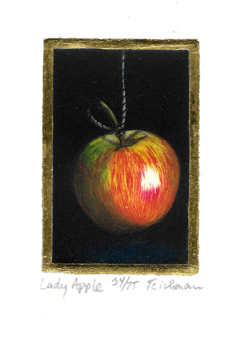"""Lady Apple"",  multi-plate etching, $100 (unframed)"