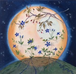 """Last Pollinator"", watercolor, 20"" x 21"", $1,000"