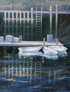 """""""Conversation At Low Tide"""", oil, 20"""" x 16"""", $975"""