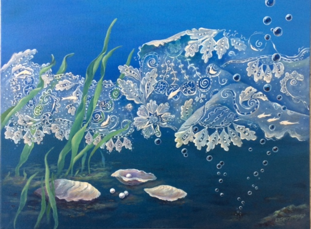 """""""The Mind Of The Sea"""", oil, 17"""" x 23"""", $1,500"""