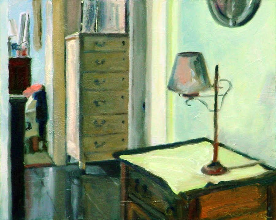 """Interior #5"", oil, 8""x10"", $475 (framed)"