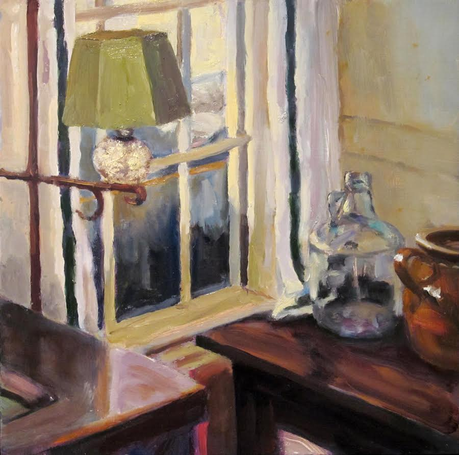 """Interior #43"", oil, 12""x12"", $600 (framed)"