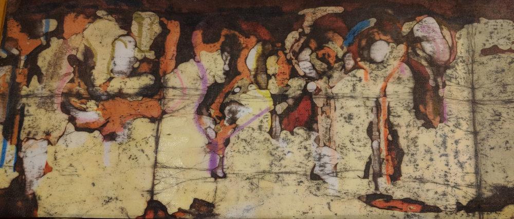 """Fading Memories"", batik, 14.5"" x 25"", $395 (framed)"