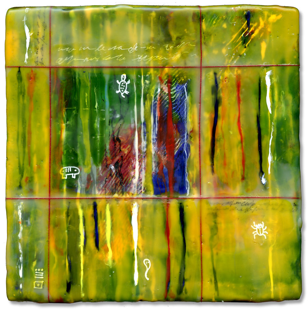 """Window"", encaustic, 8"" x 8"", $200"