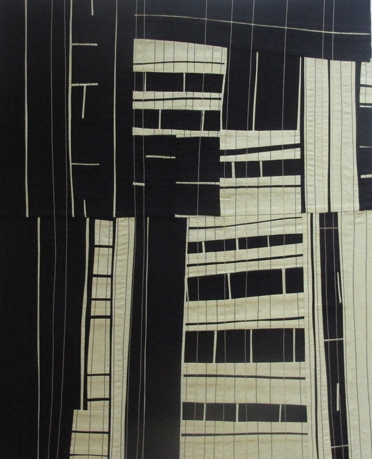 """City Scape #2"", fiber, 16"" x 20"" SOLD"