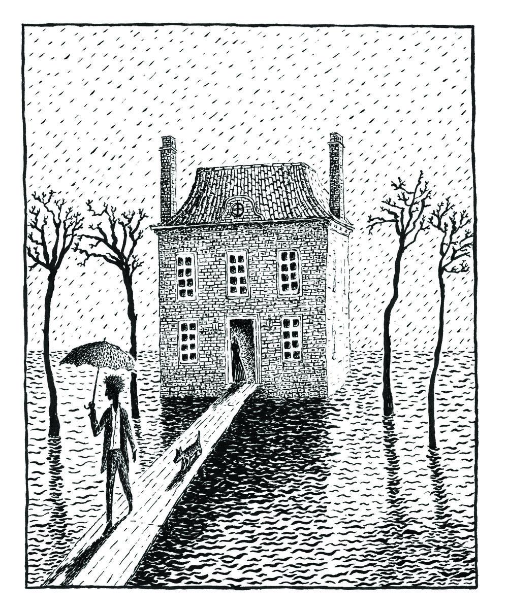 """""""Rain"""", lithograph, 5"""" x 4"""", $280"""