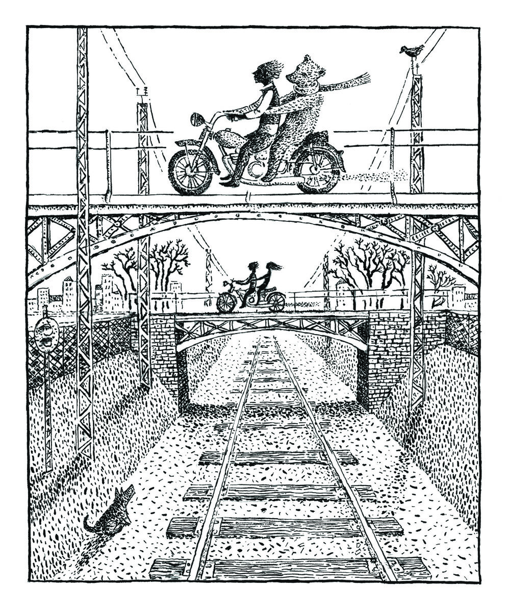 """Ride"", lithograph, 5"" x 4"", $180"