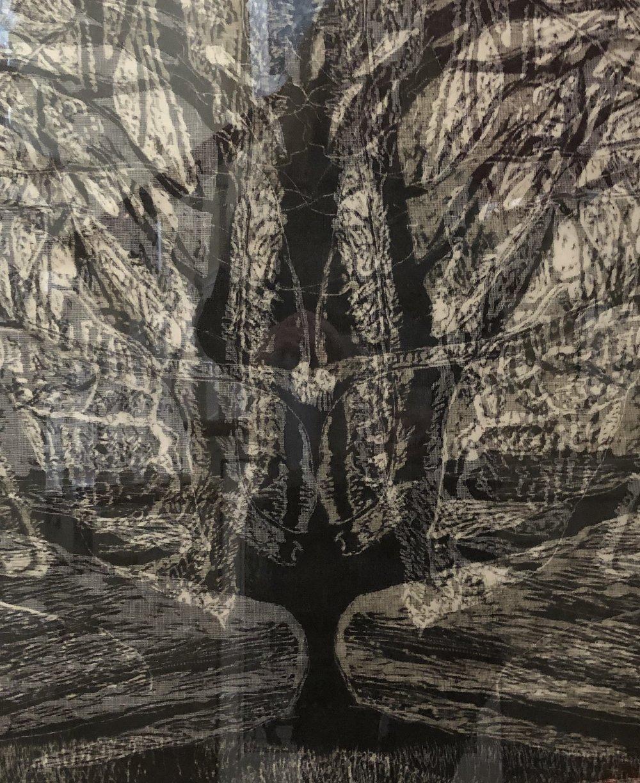 """""""Tree Odyssey 9"""", woodcut/layered"""