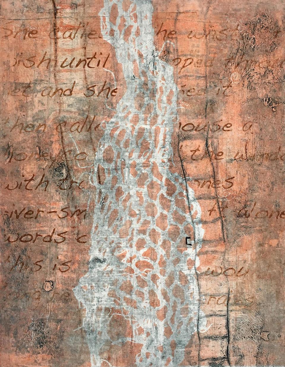 """Forgotten"", monoprint, 16"" x 22"", $300"