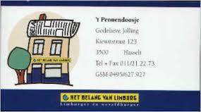 Pennendoosje   Kiewitstraat 123 (  Hasselt  ).