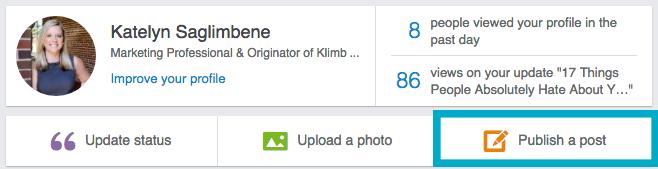 Publish a Post on LinkedIn